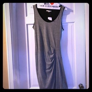 Summer Tank Dress by red haute. Gray and black.